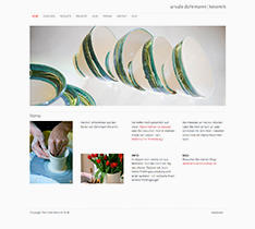 Website Ursula Dohrmann, Keramiker in Hessen